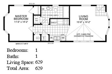 Backyard cottage 456 floor plan for Backyard cottage floor plans